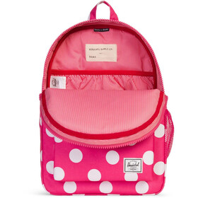Herschel Heritage rugzak Kinderen, polka dot fandango pink